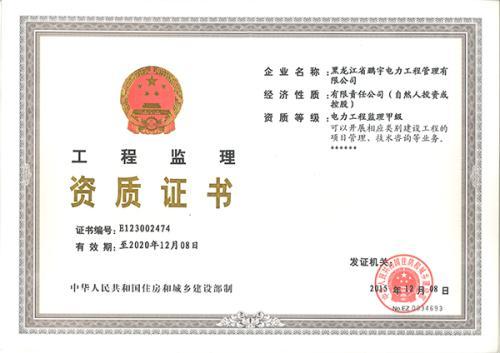 专业监理资质甲级资质证